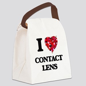 I love Contact Lens Canvas Lunch Bag