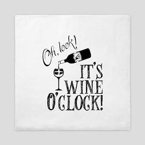 Wine OClock Queen Duvet