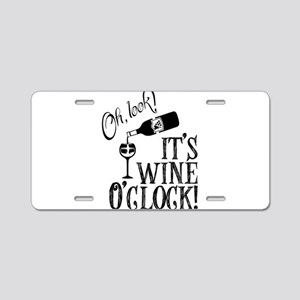 Wine OClock Aluminum License Plate