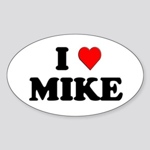 I Love Mike Oval Sticker