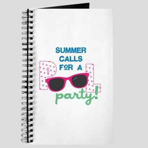 Summer Calls For A Party! Journal