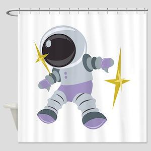 Future Astronaut Shower Curtain