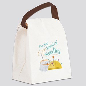 Scared Of Needles Canvas Lunch Bag