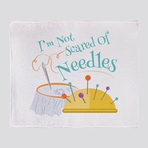 Scared Of Needles Throw Blanket