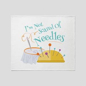 Scared Of Needles Throw Blanket