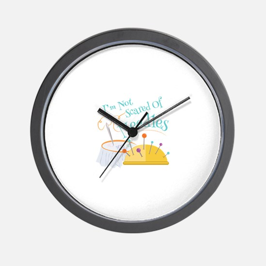 Scared Of Needles Wall Clock
