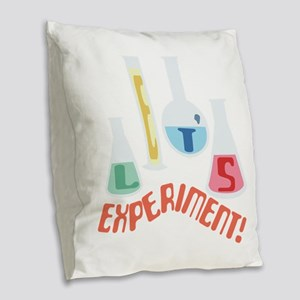 Lets Experiment! Burlap Throw Pillow