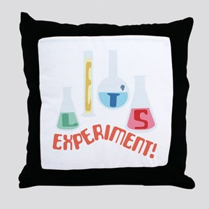 Lets Experiment! Throw Pillow