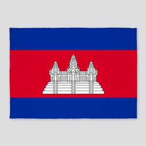 Flag Of Cambodia 5'x7'area Rug