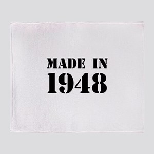 Made in 1948 Throw Blanket