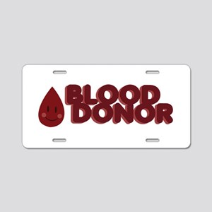 Blood Donor Aluminum License Plate