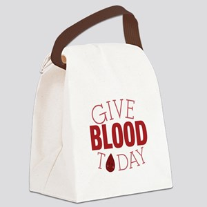 Give Blood Today Canvas Lunch Bag