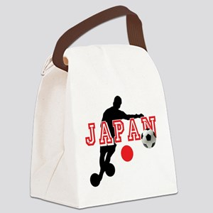 Japan Soccer Player Canvas Lunch Bag