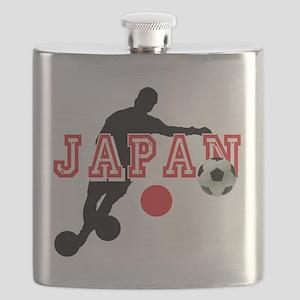 Japan Soccer Player Flask