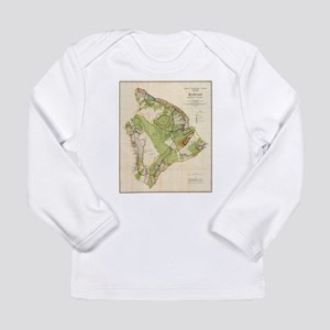 Vintage Map of Hawaii Island ( Long Sleeve T-Shirt