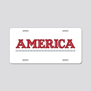 America Border Aluminum License Plate