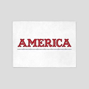 America Border 5'x7'Area Rug