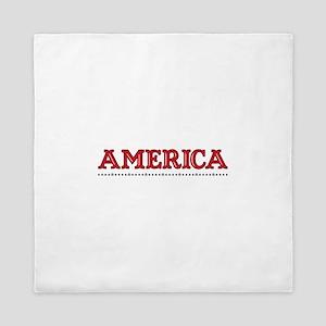 America Border Queen Duvet