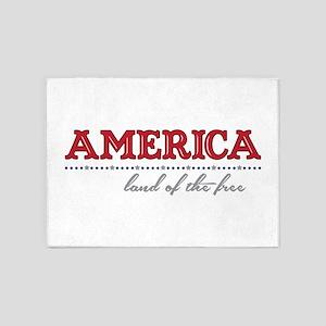 America Land 5'x7'Area Rug
