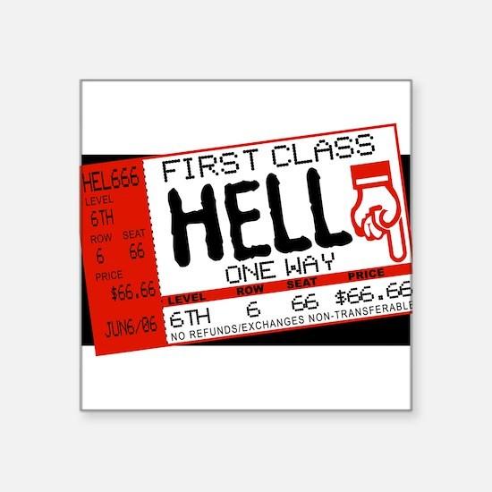 """Funny 666 Square Sticker 3"""" x 3"""""""