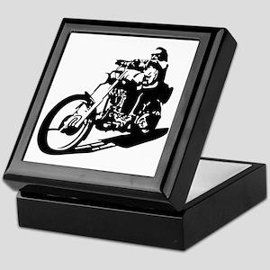 moto biker anarchy Keepsake Box