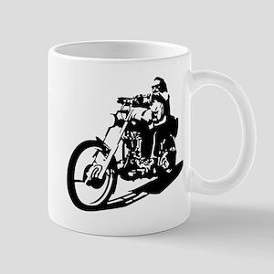 moto biker anarchy Mug