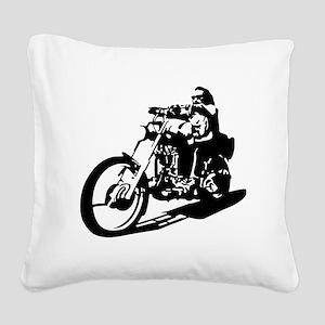 moto biker anarchy Square Canvas Pillow