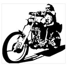 moto biker anarchy Poster
