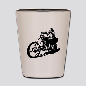 moto biker anarchy Shot Glass