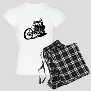 moto biker anarchy Women's Light Pajamas