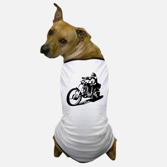 moto biker anarchy Dog T-Shirt