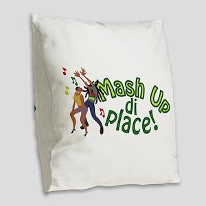 Mash Up Di Place Burlap Throw Pillow