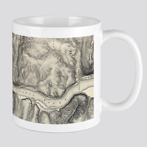 Vintage Map of Harpers Ferry (1863) Mugs