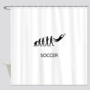 Soccer Goalie Evolution Shower Curtain