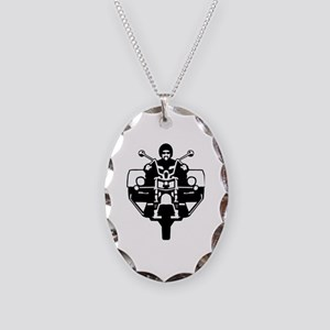 trike biker Necklace Oval Charm