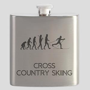 Cross Country Skiing Evolution Flask