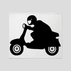 scooter vespa race  Throw Blanket