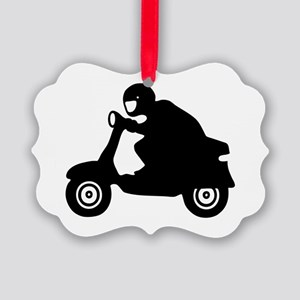 scooter vespa race  Picture Ornament