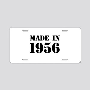 Made in 1956 Aluminum License Plate