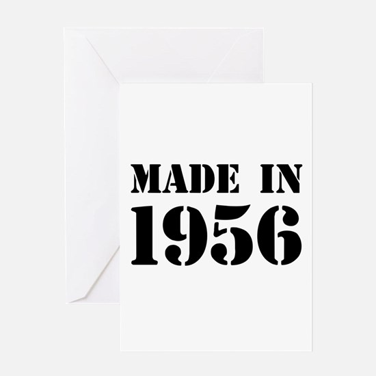 Made in 1956 Greeting Cards