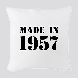 Made in 1957 Woven Throw Pillow