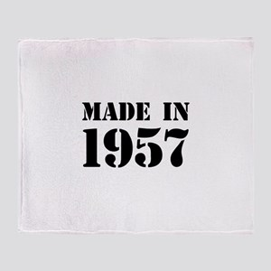 Made in 1957 Throw Blanket