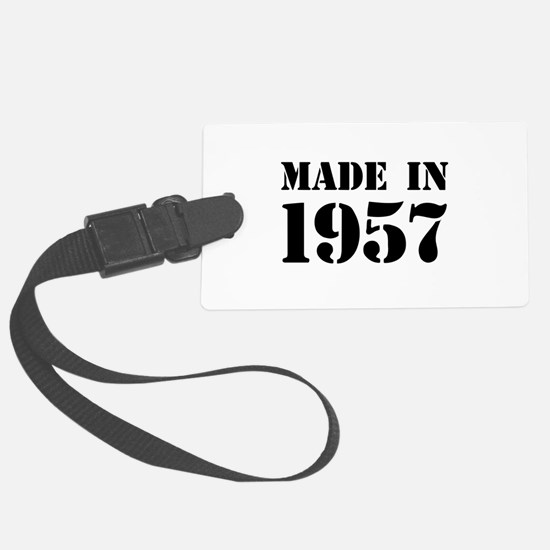 Made in 1957 Luggage Tag