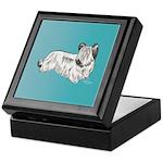 Skye Terrier, Cream Keepsake Box