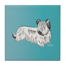 Skye Terrier, Cream Tile Coaster