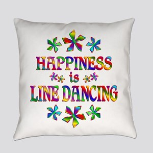 Happiness is Line Dancing Everyday Pillow