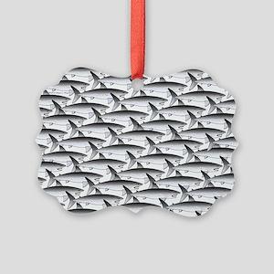 School of Megalodon Sharks Ornament