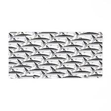 School of Megalodon Sharks Aluminum License Plate