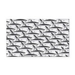 School of Megalodon Sharks Rectangle Car Magnet