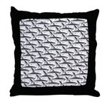 School of Megalodon Sharks Throw Pillow